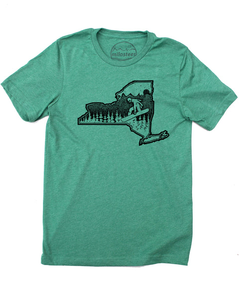 Snowboard New York T-Shirt | Graphic New York Illustration Hand Screen Print on Soft 50/50 Threads