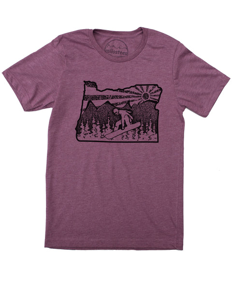 Oregon Snowboard T-shirt, Graphic Print on Soft 50/50 Threads- Elevate the day! $21.99, free shipping in USA.