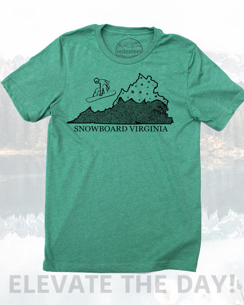 Virginia Shirt, Snowboard the Commonwealth State and Elevate Your Day in Powdery Soft 50/50 T-shirts