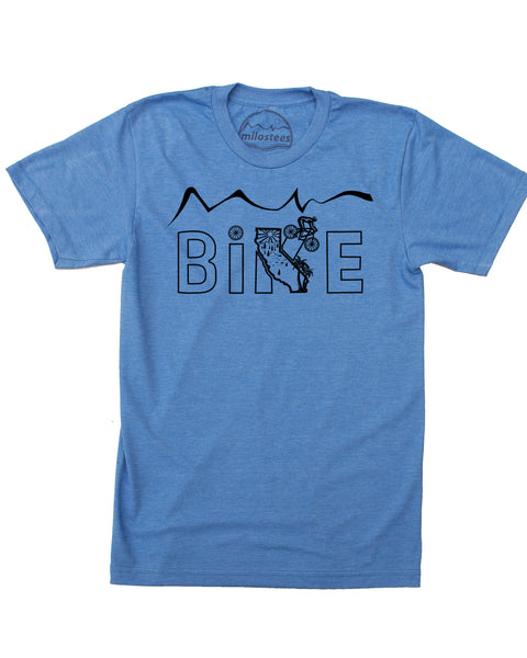 Bike California Shirt | Cycling Graphic on Soft 50/50 Wears | Ride Santa Cruz Elevate the Day!