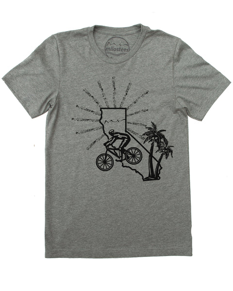 California Shirt | Mountain Bike Graphic | Hand Screen Print on Soft 50/50 Tee's | Elevate the Day!