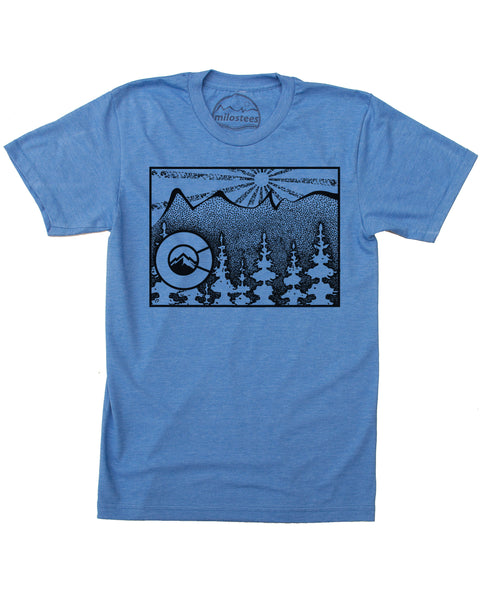 Colorado Home Shirt | Mountain Style on Soft 50/50 Tee's | Elevate the Day!