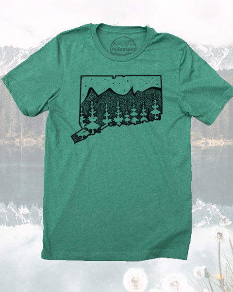 Connecticut Home Shirt- Graphic Nature Illustration Screen Printed on Soft 50/50 Tee's- Elevate the Day!