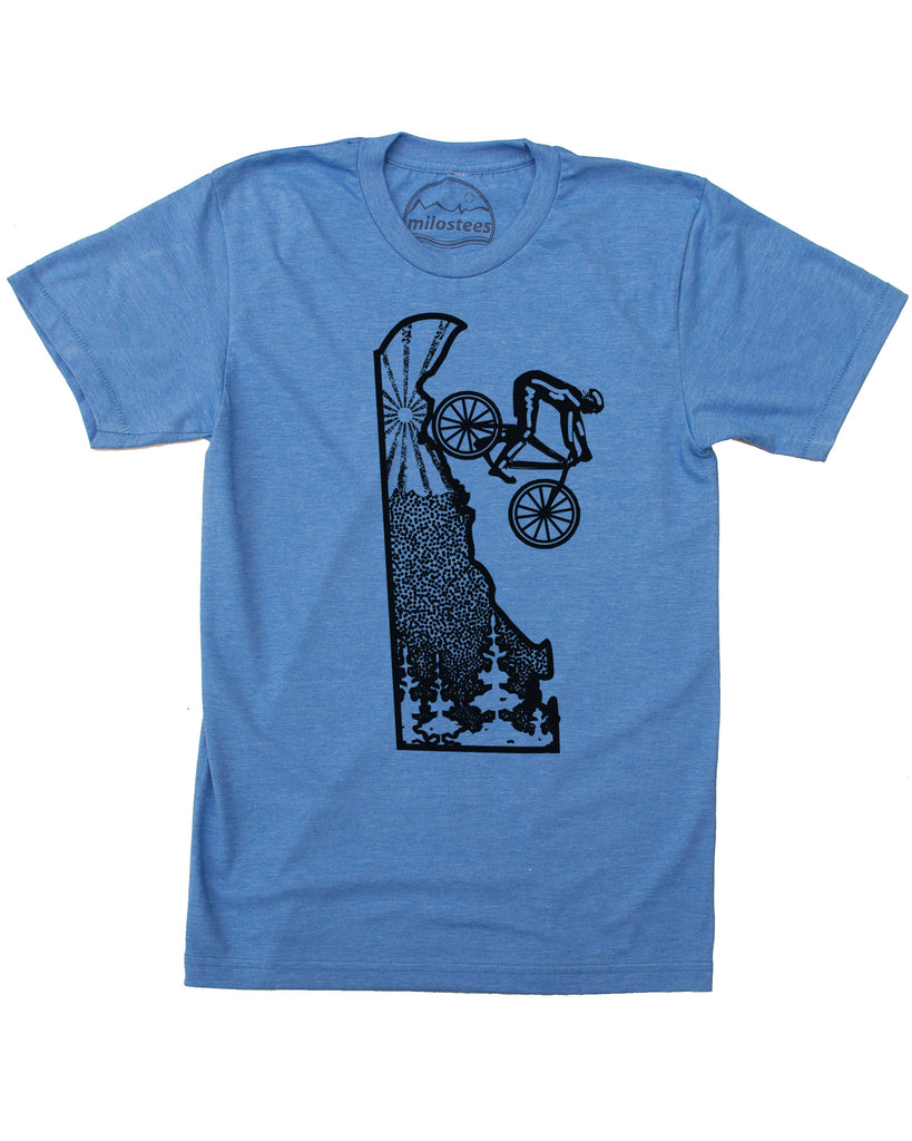 Delaware Home Shirt | Original Cycling Graphic | Hand Screen Print on Soft 50/50 Tee's