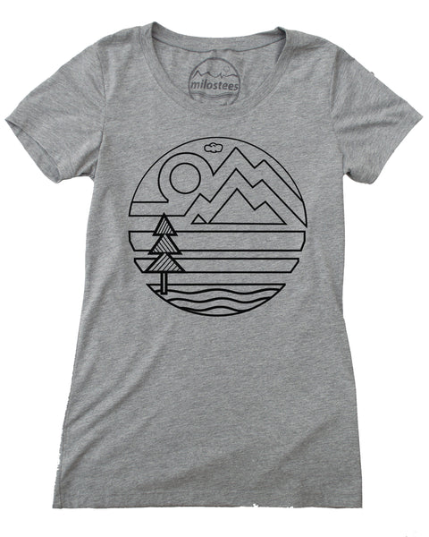 Design Mountain T, Great for Travel or Casual Day's with Soft Vintage Feel.