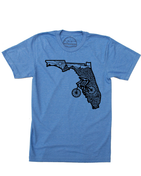 Florida Home Shirt | Mountain Bike Style Hand Screen Printed on Soft 50/50 Tee's