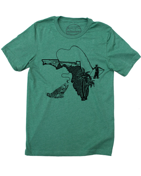 Florida Shirt | Original Fly Fishing Graphic | Hand Screen Print on Soft 50/50 Threads | Elevate the Day!