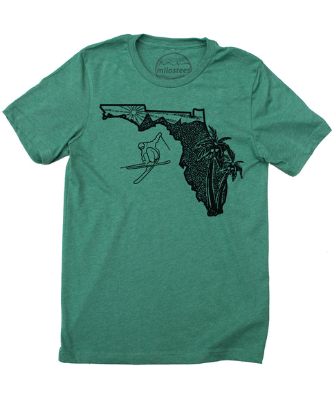 Cool Florida Home T-shirt | Funny Skiing Graphic on Soft 50/50 Wears | Ski Tampa Elevate the Day!