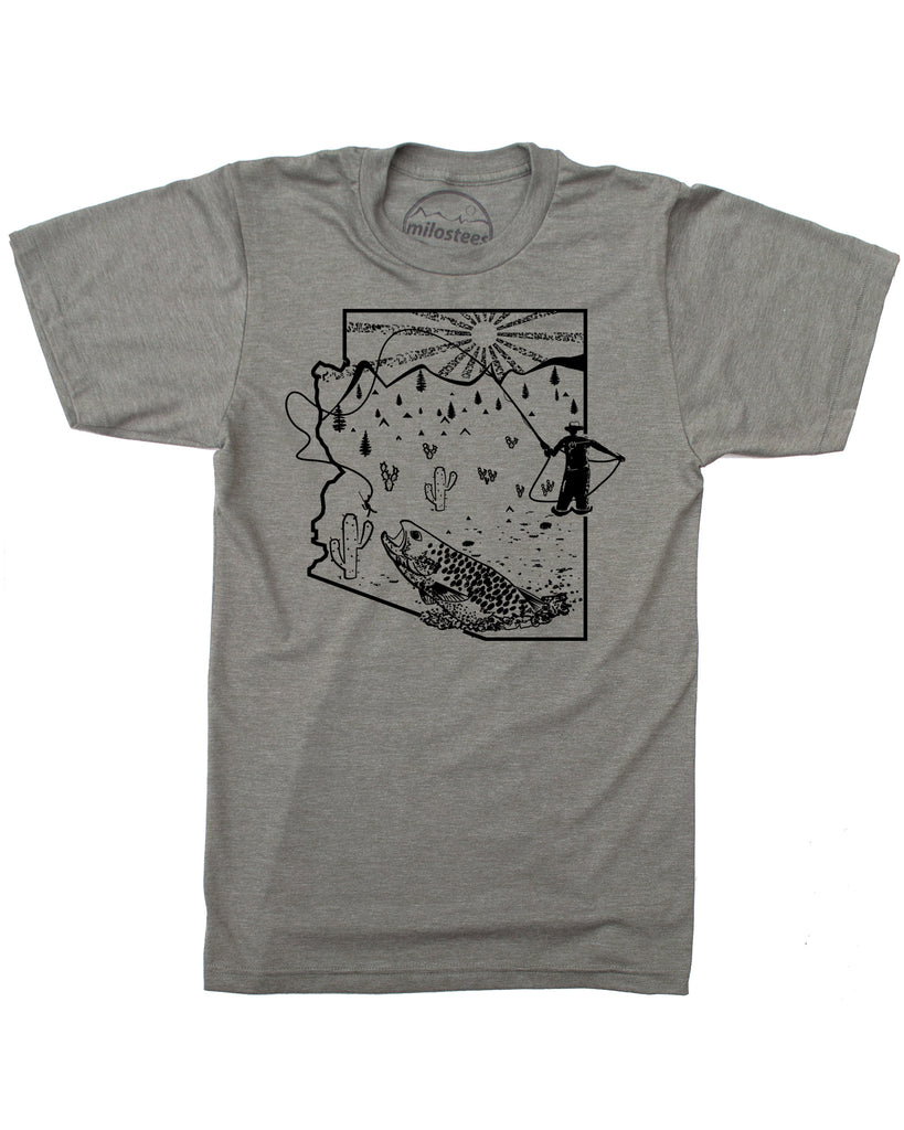 Arizona Fly Fishing T-shirt- Fish in Soft 50/50 Apparel- Great for hot summer days!