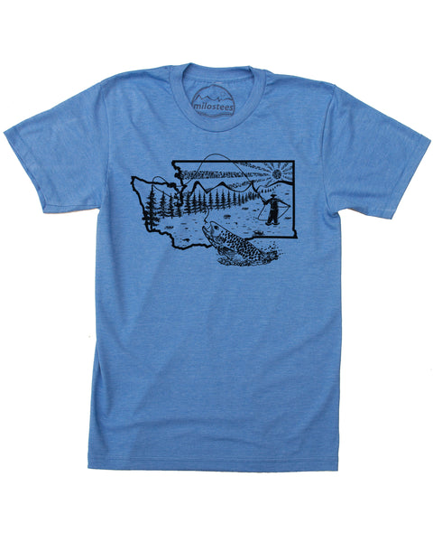 Washington Fly Fishing T-shirt - Soft Threads for Casual Days or Fishing Adventures