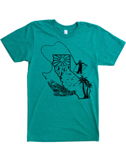 California Fly Fishing Shirt- Cast a Fly in in the Golden State
