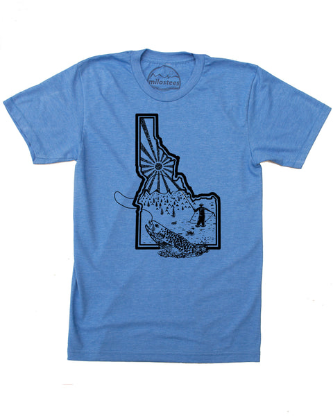 Fly Fish Idaho - Graphic Idaho T-shirt as Soft as a Fly Cast - $21.99, Free Shipping in USA.
