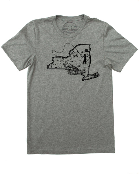 Fly Fish New York Shirt- Cast a fly line in soft apparel that will elevate your day!