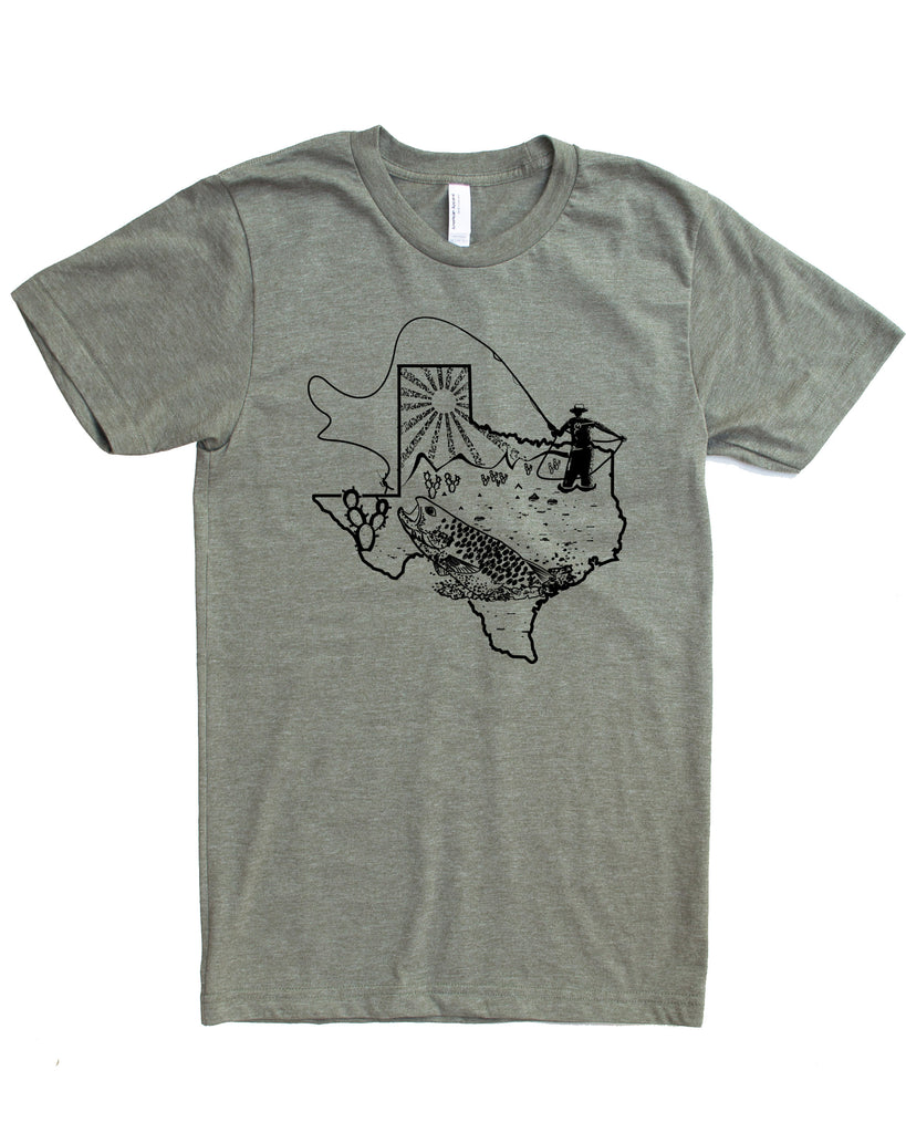 Texas Fly Fishing T-shirt, Soft Wears for Fishing Adventures!