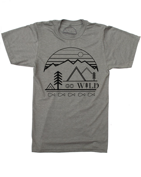 Go Wild Print- Army Green (lieutenant) Shirt Cotton, Polyester Blend- Free Shipping in USA