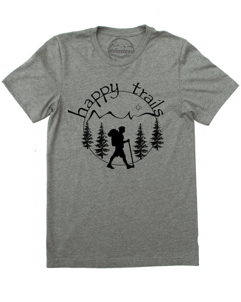 Happy Trails Hiking T-shirt, Great for Nature Adventures Or Casual Day's!