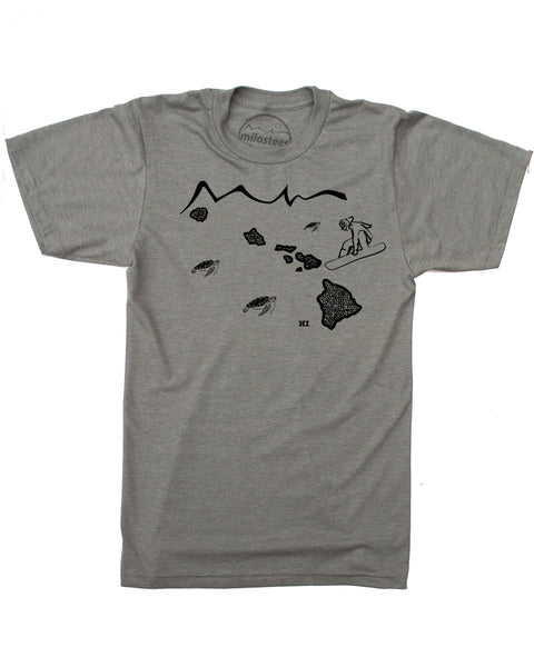 Hawaii Home Shirt | Snowboarding Graphic on Soft 50/50 Tees | Elevate the Day!