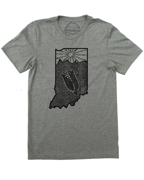 Indiana Home Shirt | Setting Sun Rolling Hills Design | Hand Screen Print on Soft 50/50 Tee's | Elevatet the Day!