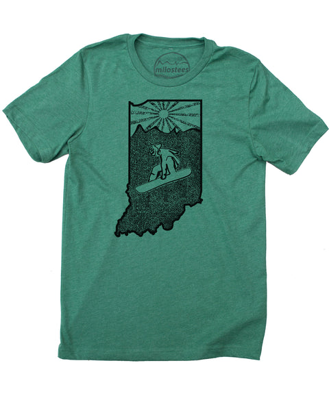 Indiana Home Shirt | Original Snowboarding Graphic on Soft 50/50 Threads | Elevate the Day!