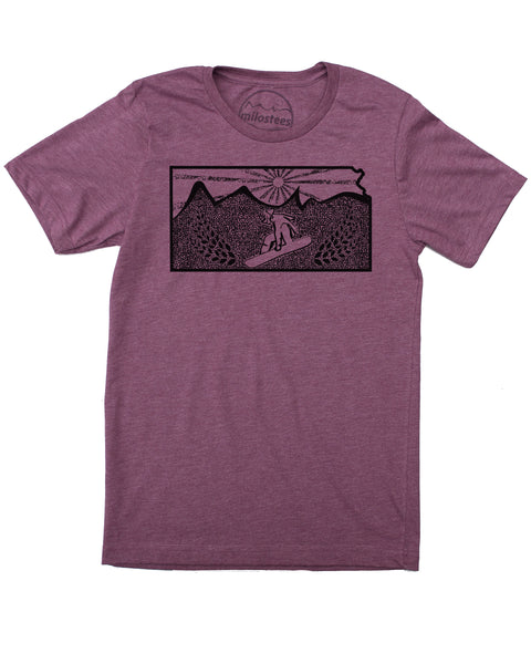 Kansas State Shirt | Original Snowboarding Graphic | Hand Screen Print on Soft 50/50 Threads | Elevate the Day!