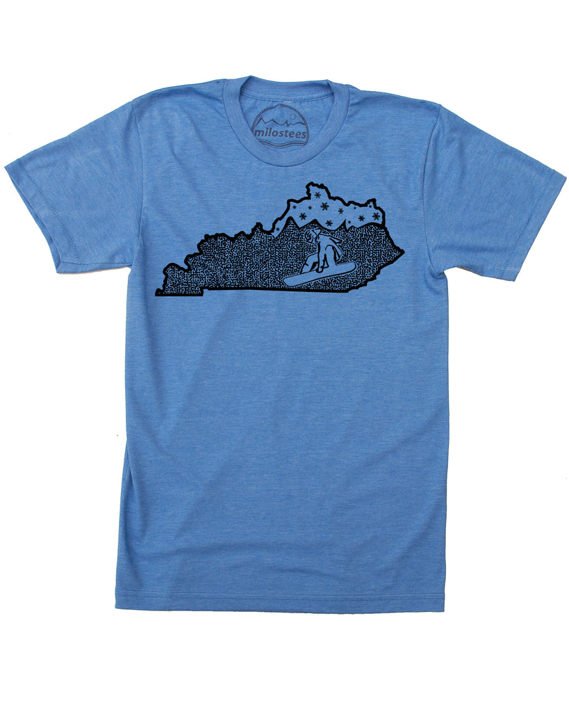 Kentucky Shirt | Original Snowboarding Graphic | Hand Printed on Soft 50/50 Threads | Elevate the Day