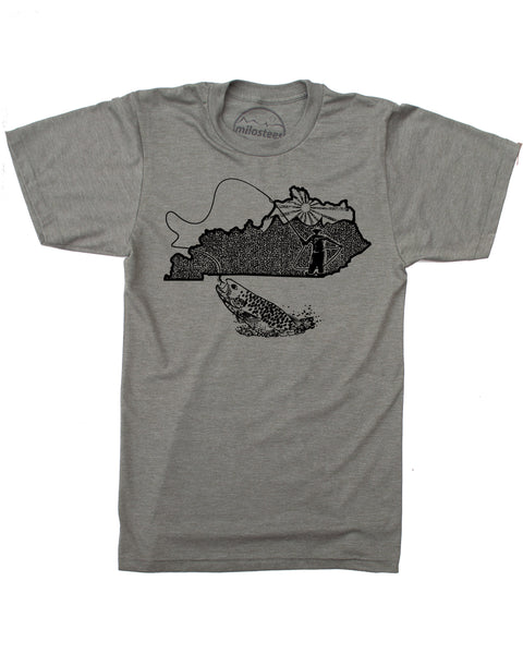 Kentucky Home Shirt | Original Fly Fishing Graphic | Hand Screen Print on Soft Threads | Elevate the Day!