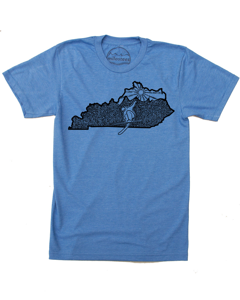 Kentucky Home Shirt | Skiing Graphic on Soft 50/50 Wears | Ski Butler Elevate the Day!