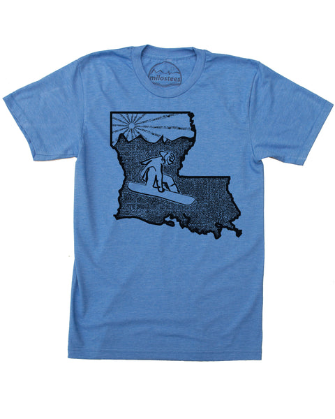 Louisiana Shirt | Original Snowboard Graphic | Soft 50/50 Apparel | Elevate the Day!