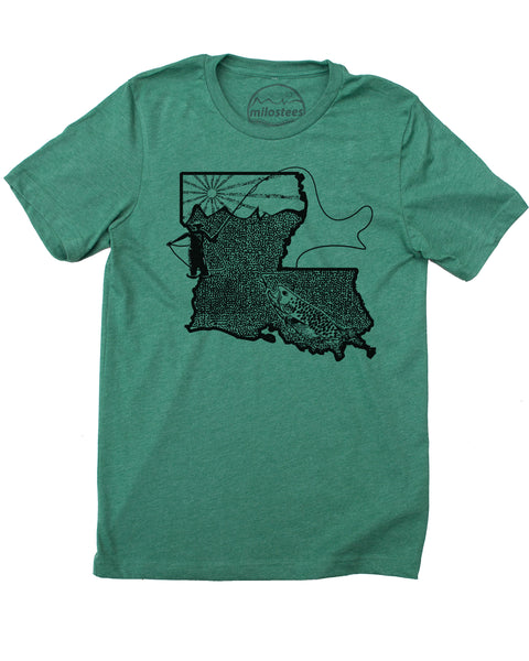 Louisiana Home Shirt | Fly Fishing Graphic | Hand Print on Soft Threads | Elevate the Day!