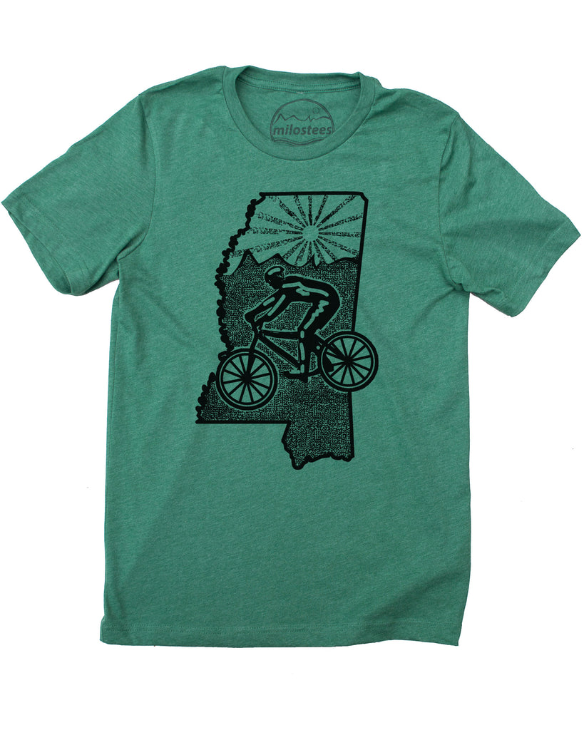 Mississippi Home Shirt | Mountain Bike Graphic | Screen Print on Soft 50/50 Tee's | Elevate the Day!