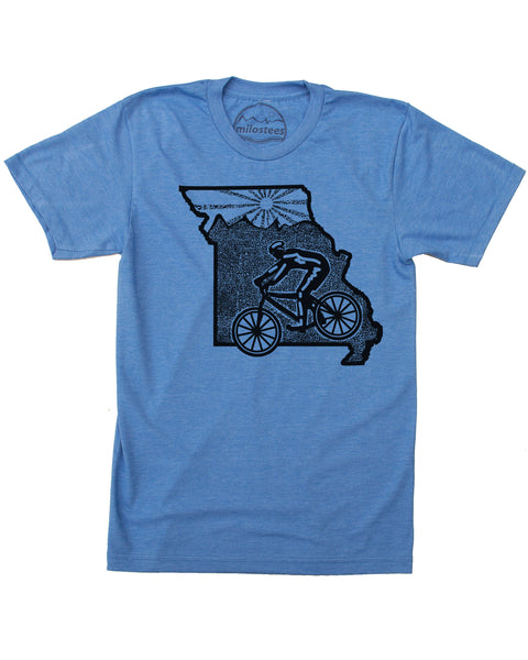 Missouri Mountain Bike Shirt | Original Graphic Printed on Soft 50/50 Tee's