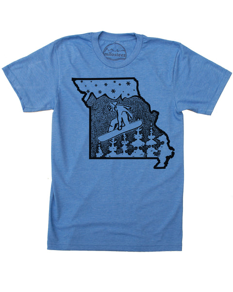Missouri Home Shirt | Original Snowboard Graphic on Soft 50/50 Tee's | Elevate the Day!