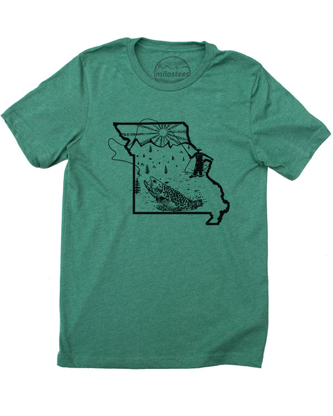 Milostees | Missouri Fishing Shirt | Soft 50/50 Tee's | Elevate the day!