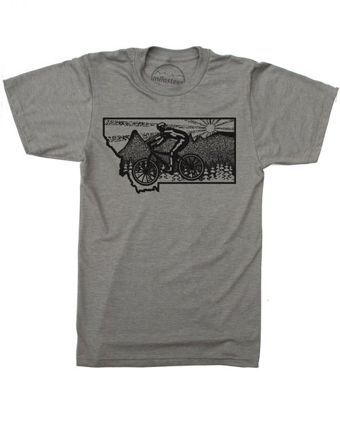 Montana Shirt- Mountain Bike Glacier National Park in Soft 50/50 Treads