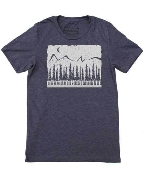 Celestial Mountain Scene Hand Screen Printed on Silky Soft 50/50 Tee's