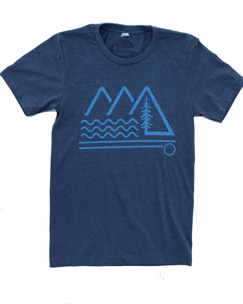 Mountain Wave T-shirt, Soft Wears for Daily Adventures