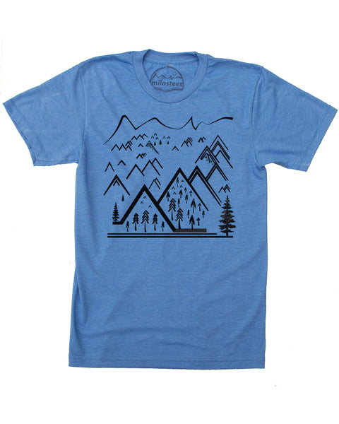 Simple Line Art Mountain T-shirt