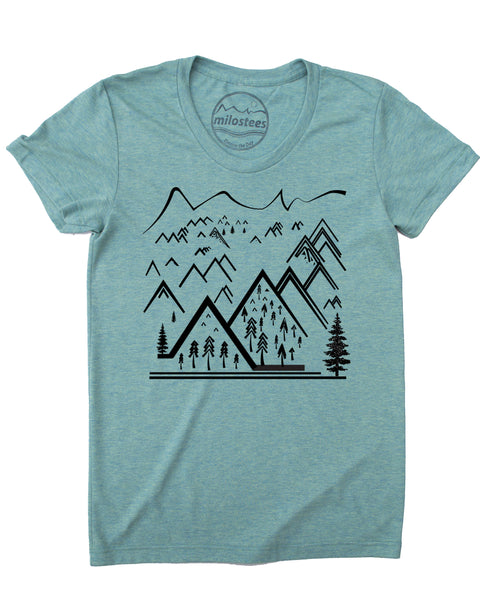 Mountain Element T-shirt, Wear Soft Adventure in a Form Fitting Style!