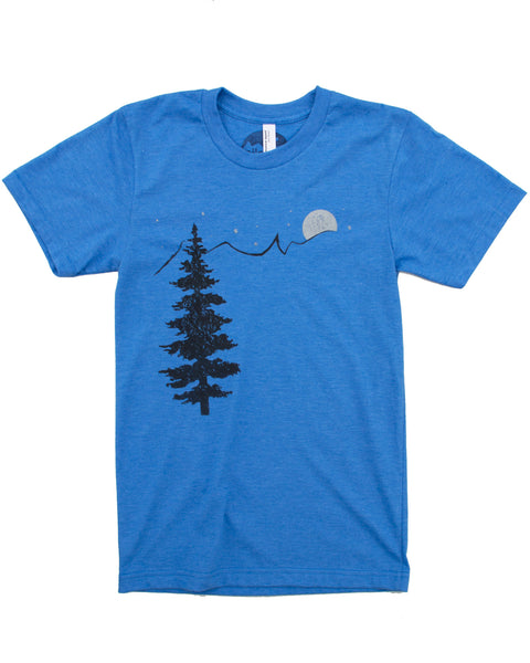 Mountain Stars & Tree, Great for Hiking or Casual Wear
