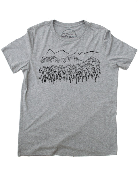 Mountain & Tree's Tee, Screen Print on Soft Threads!