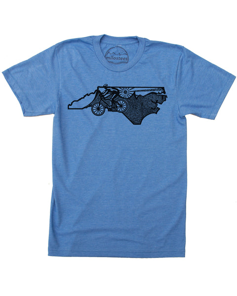 North Carolina Shirt- Mountain Biker Riding the Blue Ridge Mountains in a Soft Tee!