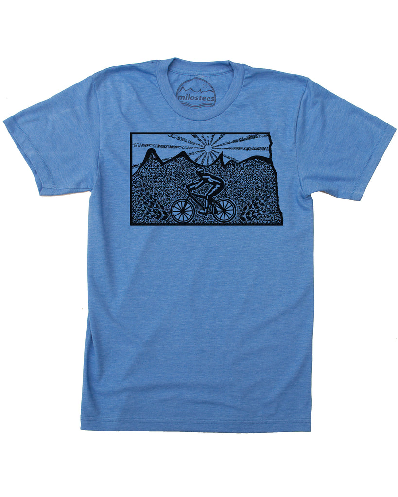 North Dakota Home Shirt | Mountain Bike Style | Hand Screen Print on Soft 50/50 Tee's | Elevate the Day!