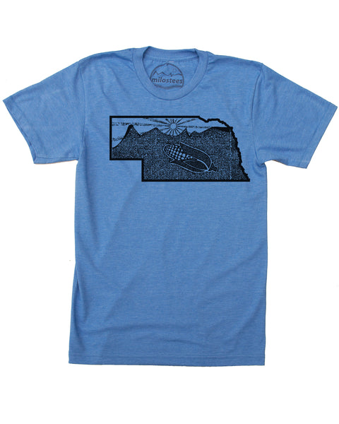 Nebraska Home Shirt | Rolling Hills and a Sunset | Soft 50/50 Tees | Elevate the Day!