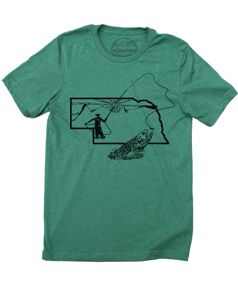 Nebraska Home Shirt | Original Fly Fishing Illustration | Hand Screen Print on Soft 50/50 Tees | Elevate the Day!