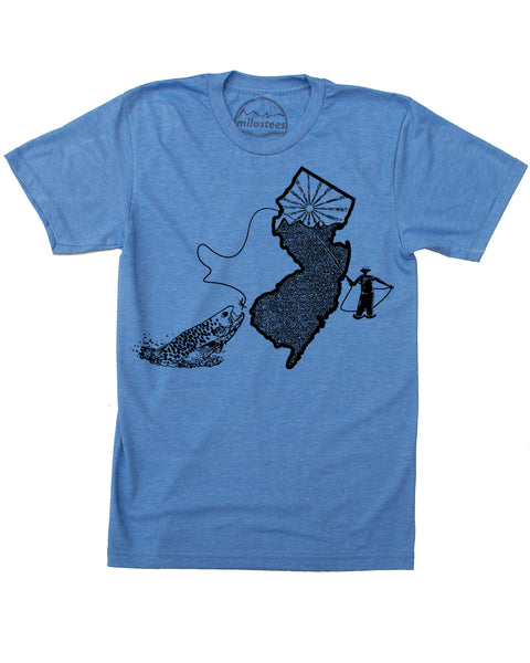 New Jersey Home Shirt | Fly Fishing Graphic on Soft 50/50 Wears | Elevate the day!