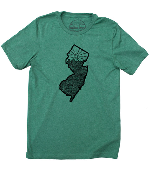 New Jersey Shirt | Nature Inspired Graphic | Hand Screen Print on 50/50 Tee's