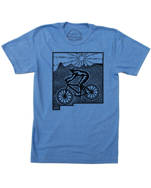 New Mexico Shirt with Mountain Bike Graphic on Soft 50/50 Tee's