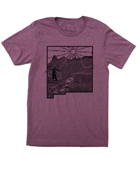 New Mexico Home Shirt | Original Fly Fishing Illustration | Hand Screen Print on Soft 50/50 Tee's | Elevate the Day!