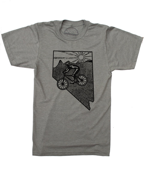 Nevada Shirt- Mountain Bike Nevada Illustration on Soft 50/50 Tee's