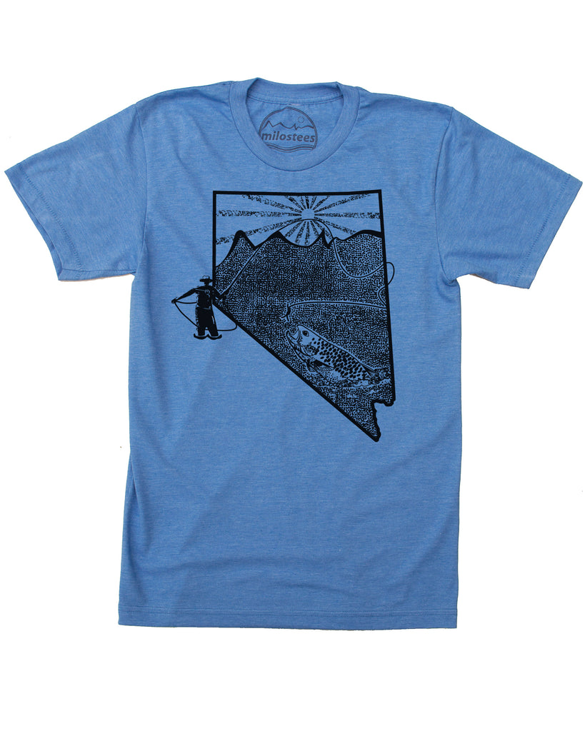 Nevada Home Shirt | Fly Fishing Style | Hand Screen Print on Soft 50/50 Tees | Elevate the Day!